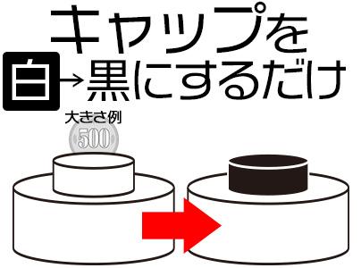 ◆8:30~◆白→黒へキャップを変えるだけ!