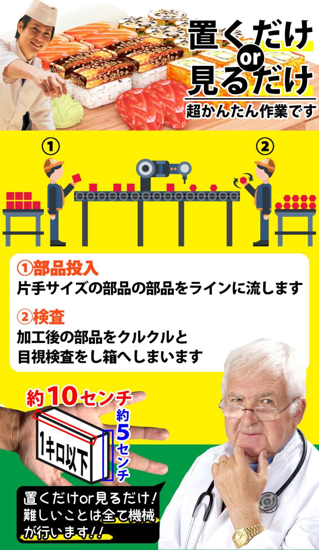 片手サイズの部品の投入or目視検査 愛知県豊橋市の派遣社員求人