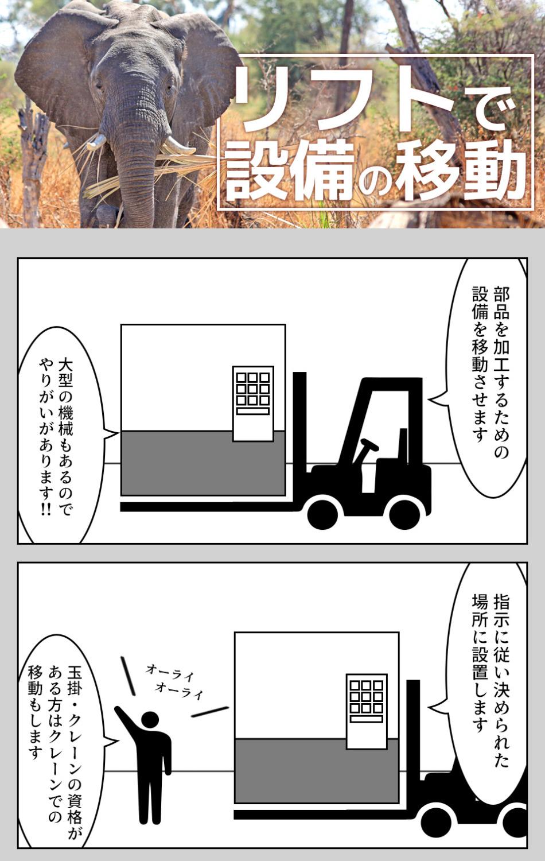 リフトでの設備の移動 愛知県田原市の派遣社員求人