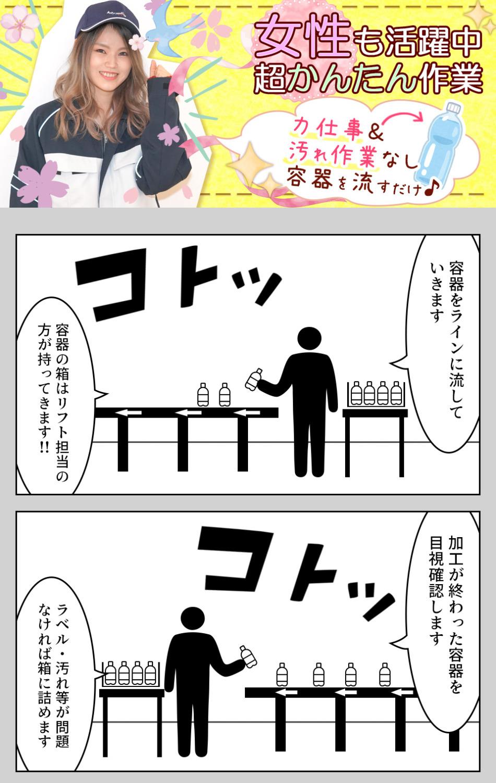 ボトルの投入・検査 愛知県豊川市の派遣社員求人