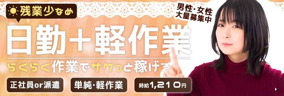 入れて押すだけ軽作業 愛知県豊橋市の紹介予定派遣求人