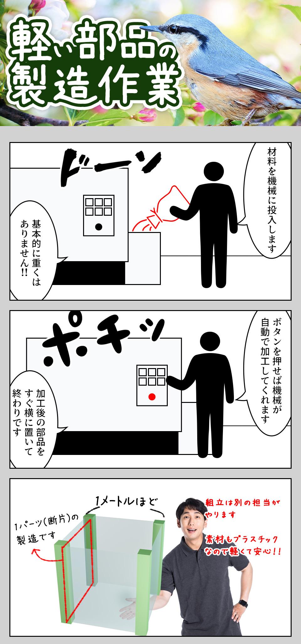部品の投入・機械オペレーター 石川県金沢市の派遣社員求人