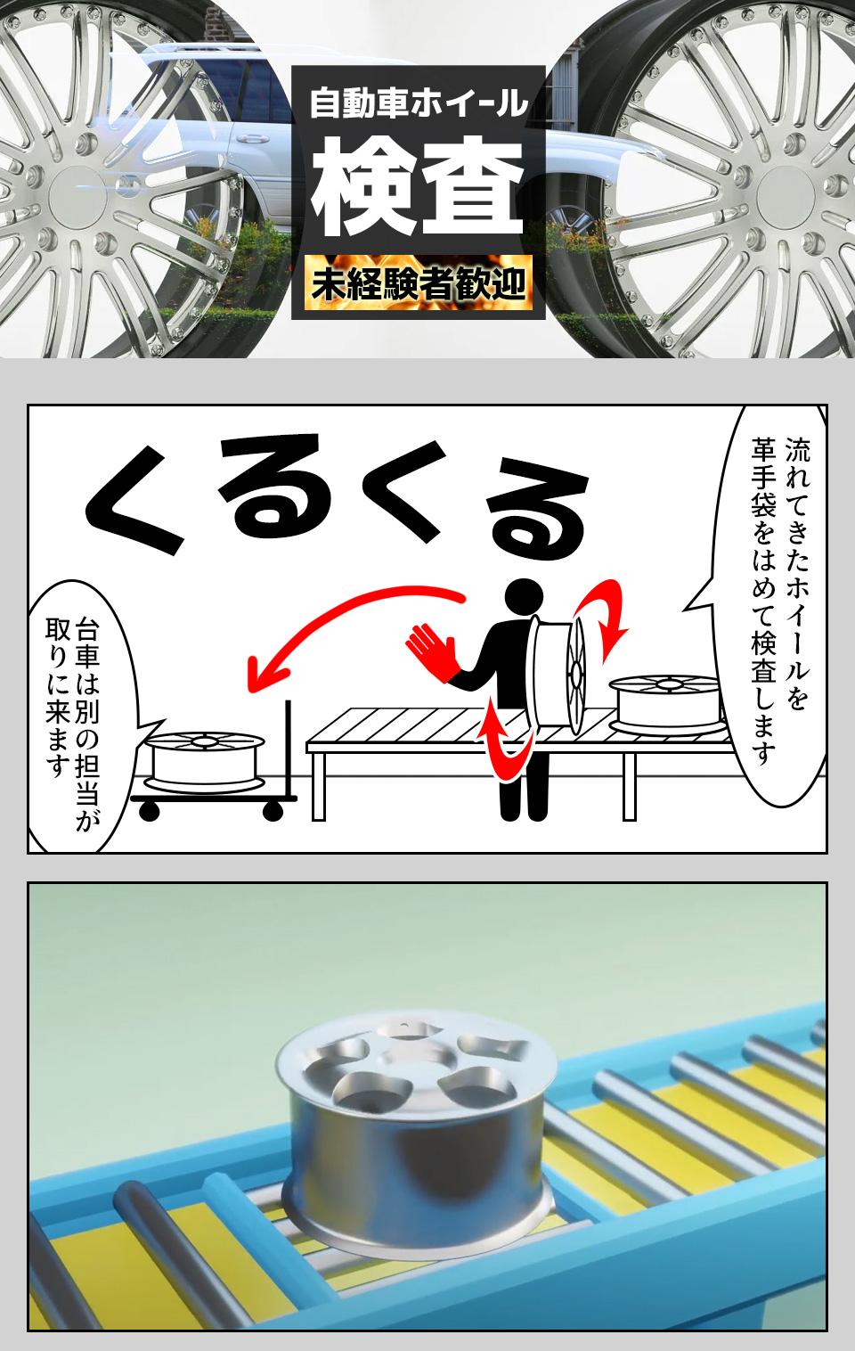 ホイールの検査 愛知県西尾市の派遣社員求人