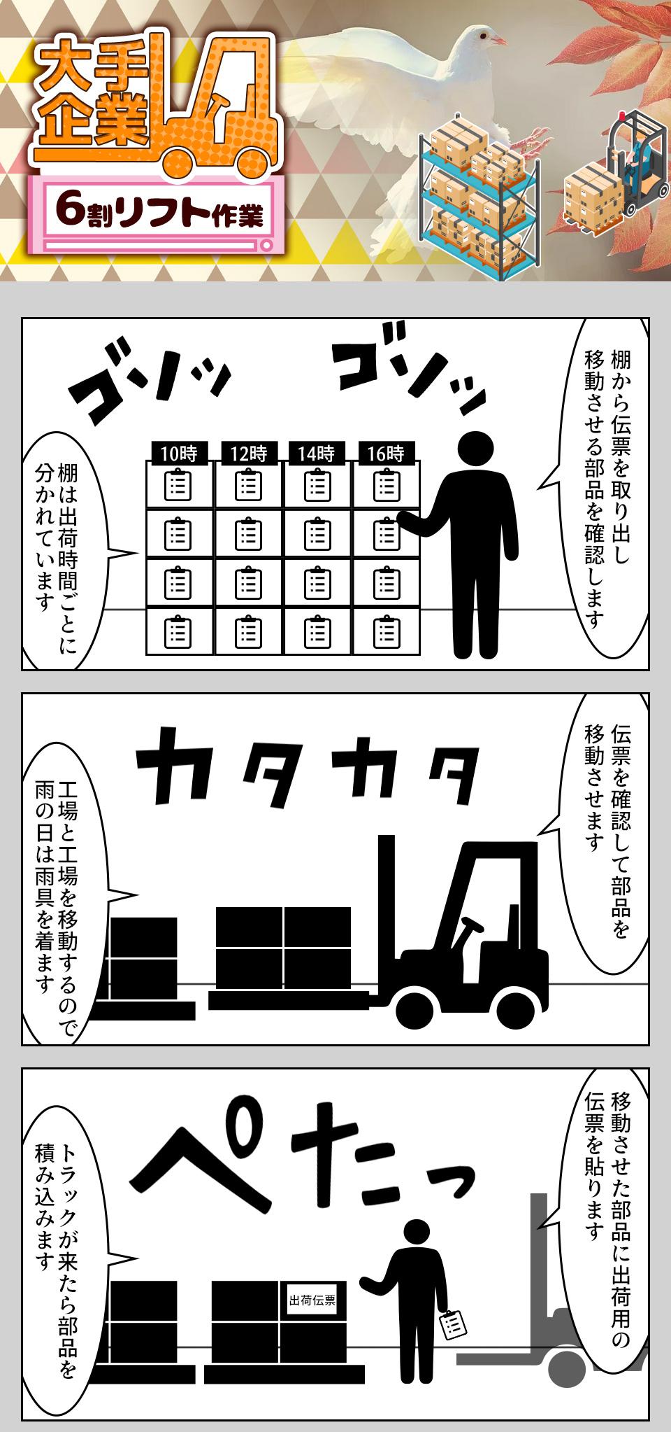 リフトでの入出庫作業 愛知県豊田市の派遣社員求人