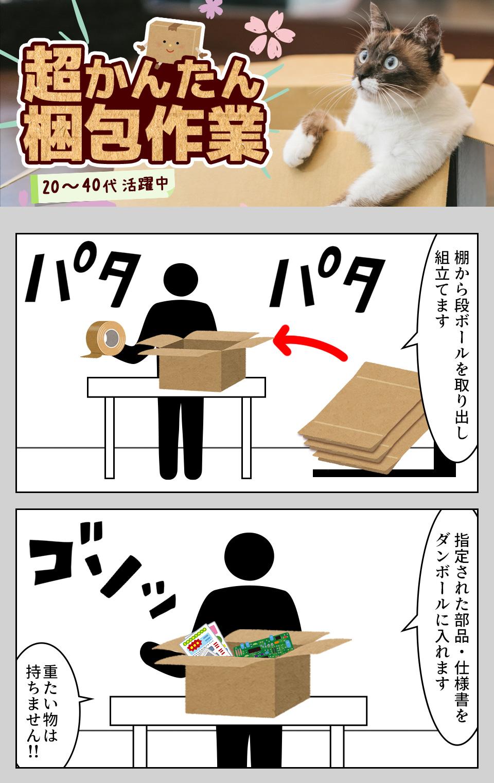 部品の梱包 愛知県豊田市の派遣社員求人