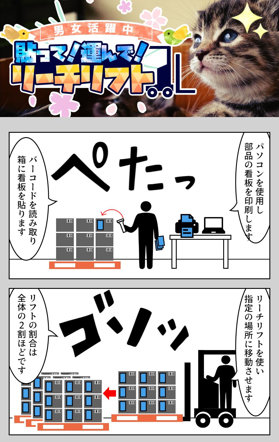 リーチリフト作業 愛知県豊田市の派遣社員求人