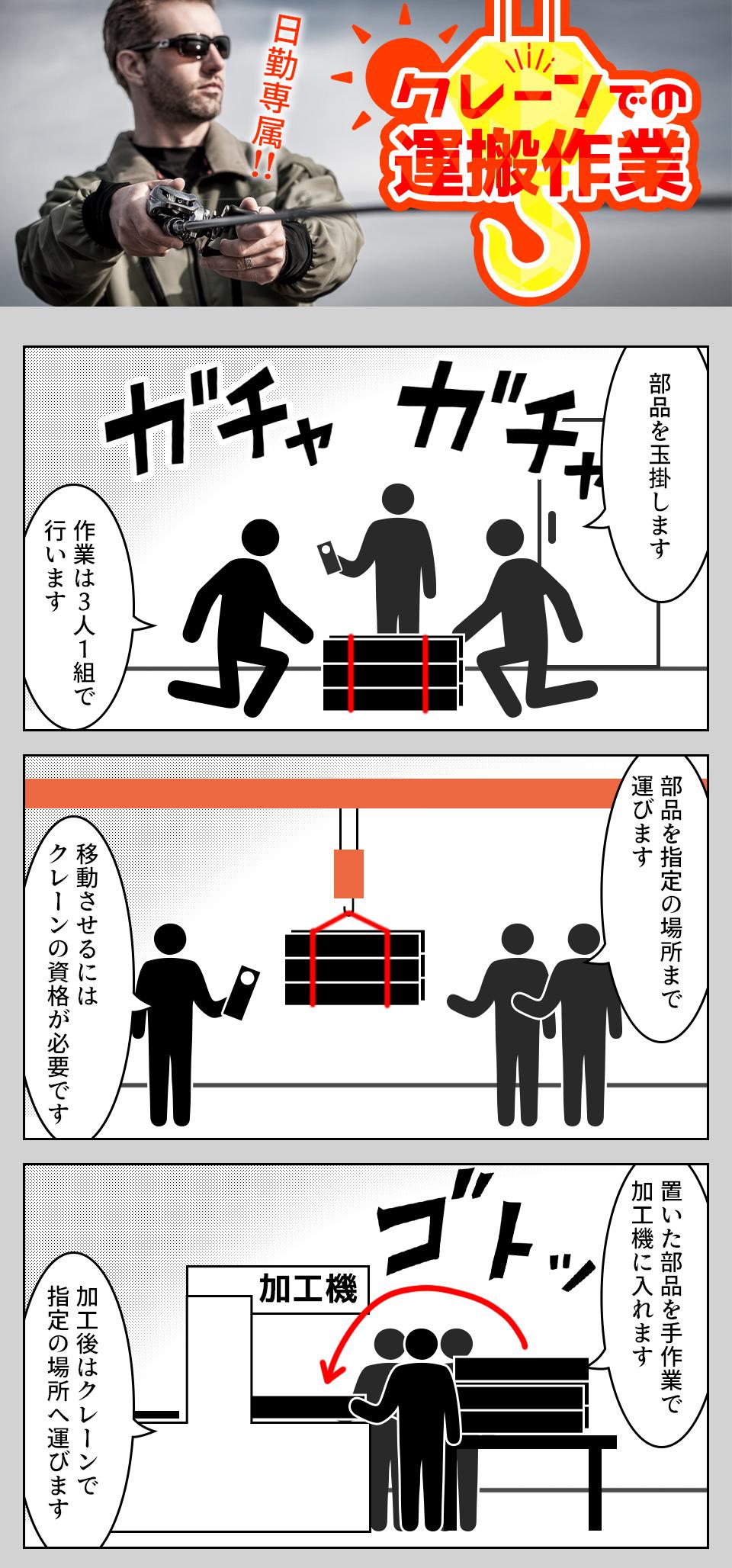 クレーン・機械オペレーター 愛知県豊川市の派遣社員求人