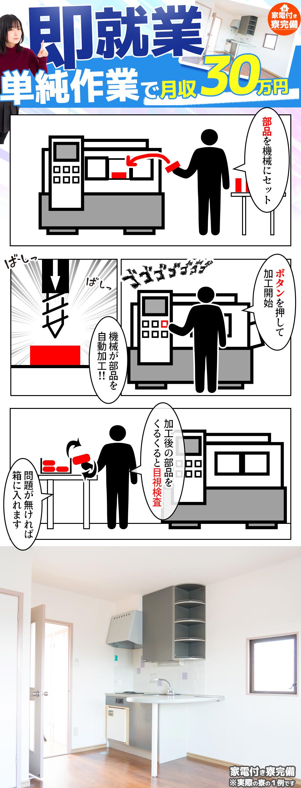 加工検査 愛知県西尾市の派遣社員求人