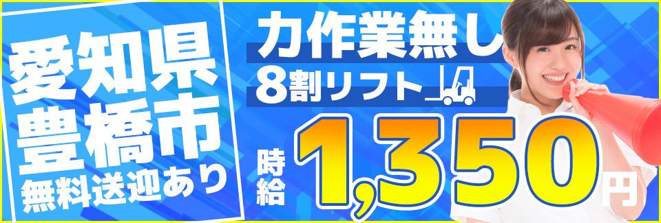 リフトでのフレコンバッグの移動 愛知県豊橋市の派遣社員求人