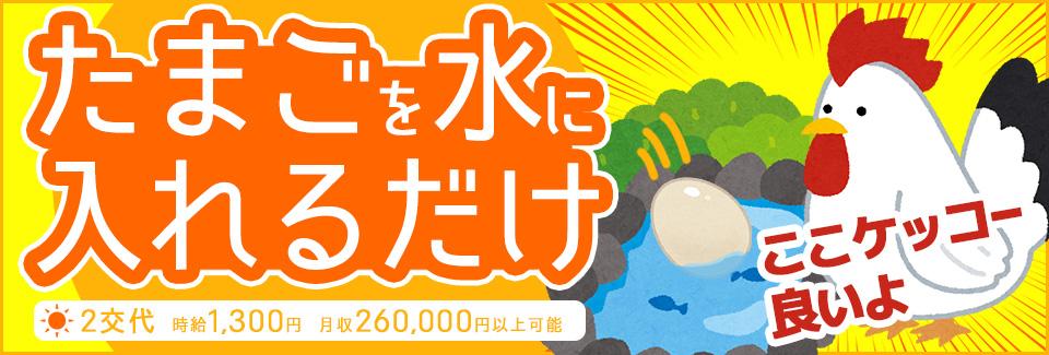 たまごを水に入れるだけ 愛知県豊田市の派遣社員求人